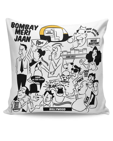 PosterGuy | Bombay Meri Jaan Comic Art Cushion Cover Online India