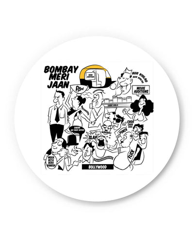 Coasters | Bombay Meri Jaan Comic Art Coaster 1503038319 Online India | PosterGuy.in