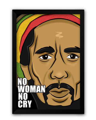 Framed Posters | No Woman No Cry | Bob Marley Laminated Framed Poster Online India