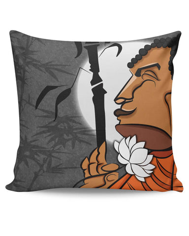 PosterGuy | Blissful Lord Buddha Meditating Cushion Cover Online India