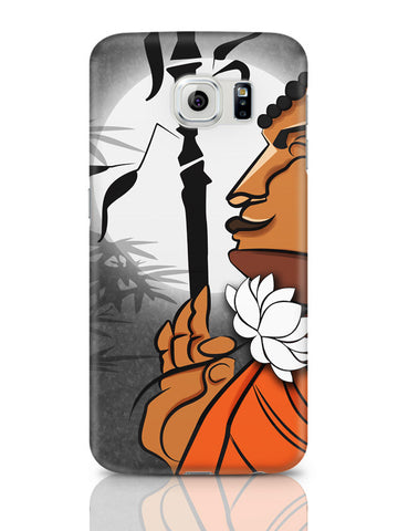 Samsung Galaxy S6 Covers & Cases | Blissful Lord Buddha Meditating Samsung Galaxy S6 Covers & Cases Online India