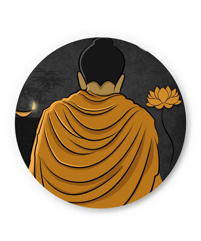 PosterGuy | Lord Buddha Back Fridge Magnet Online India by GraphiKartoon