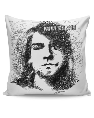 PosterGuy | Kurt Cobain Sketch Illustration Cushion Cover Online India