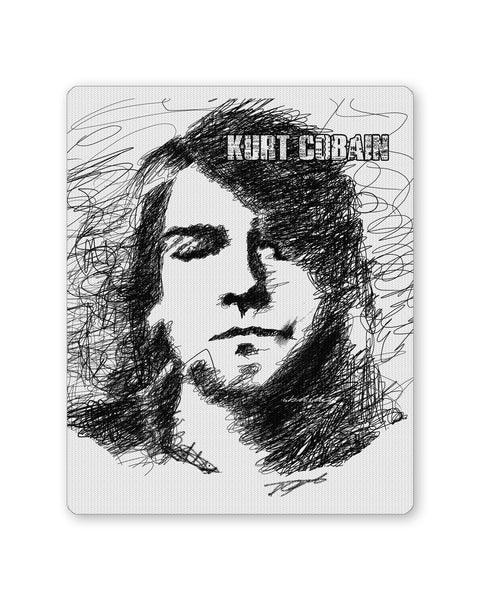 Buy Mousepads Online India | Kurt Cobain Sketch Illustration Mouse Pad Online India