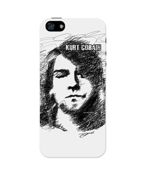 iPhone 5 / 5S Cases & Covers | Kurt Cobain Sketch Illustration iPhone 5 / 5S Case Online India