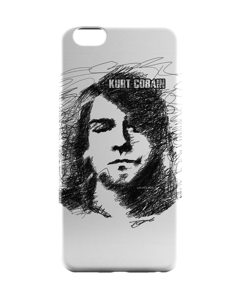 iPhone 6 Case & iPhone 6S Case | Kurt Cobain Sketch Illustration iPhone 6 | iPhone 6S Case Online India | PosterGuy