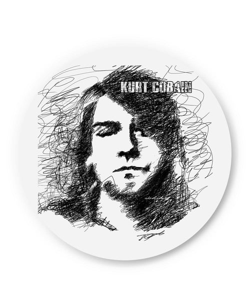 PosterGuy | Kurt Cobain Sketch Illustration Fridge Magnet Online India by GraphiKartoon