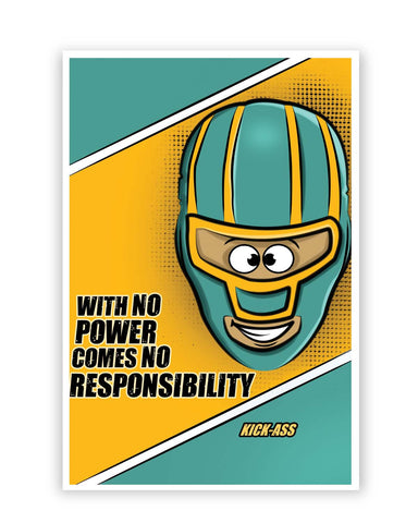 Posters Online | With No Power Comes No Responsibility | Funny Poster Online India | Designed by: GraphiKartoon