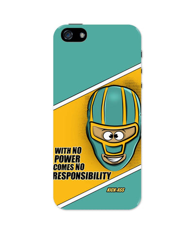 iPhone 5 / 5S Cases & Covers | With No Power Comes No Responsibility | Funny iPhone 5 / 5S Case Online India