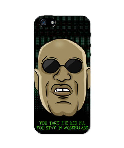 iPhone 5 / 5S Cases & Covers | You Take The Red Pill Quote | Morpheus Matrix Fan Art iPhone 5 / 5S Case Online India