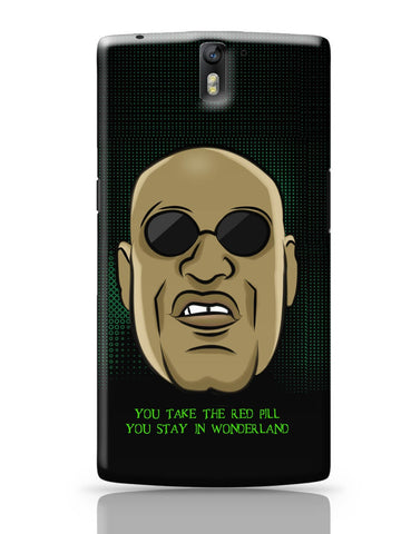 OnePlus One Covers | You Take The Red Pill Quote | Morpheus Matrix Fan Art OnePlus One Cover Online India