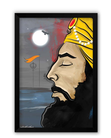 Framed Posters | Raj Karega Khalsa | Illustration Laminated Framed Poster Online India