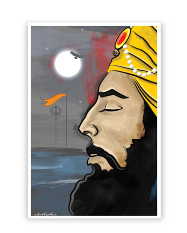 Posters Online | Raj Karega Khalsa | Illustration Poster Online India | Designed by: GraphiKartoon