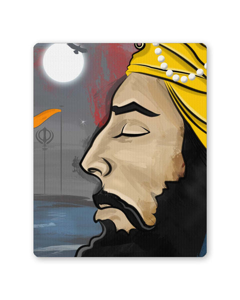 Buy Mousepads Online India | Raj Karega Khalsa | Illustration Mouse Pad Online India