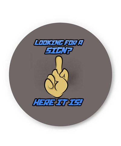 PosterGuy | Looking For A Sign | Middle Finger Fridge Magnet Online India by GraphiKartoon