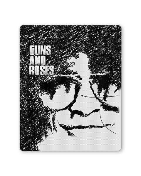 Buy Mousepads Online India | Guns And Roses Graphic Art Mouse Pad Online India