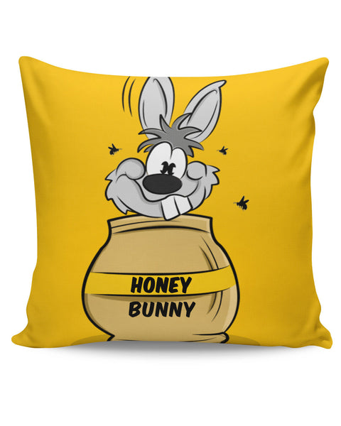 PosterGuy | Honey Bunny Funny Rabbit Graphic Cartoon Cushion Cover Online India
