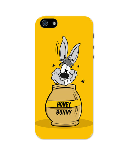 iPhone 5 / 5S Cases & Covers | Honey Bunny Funny Rabbit Graphic Cartoon iPhone 5 / 5S Case Online India