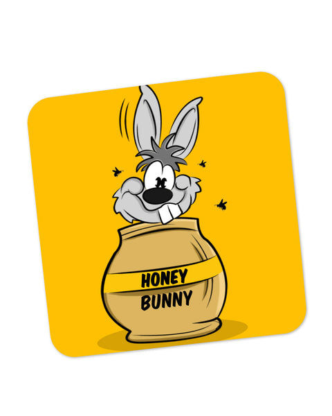 Buy Coasters Online | Honey Bunny Funny Rabbit Graphic Cartoon Coaster Online India | PosterGuy.in
