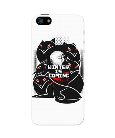 iPhone 5 / 5S Cases & Covers | Winter Is Coming | Animated Direwolves Illustration iPhone 5 / 5S Case Online India
