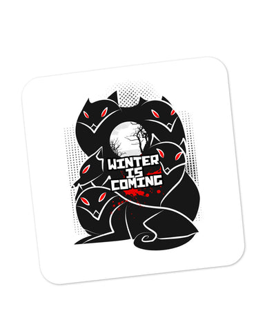 Buy Coasters Online | Winter Is Coming | Animated Direwolves Illustration Coaster Online India | PosterGuy.in