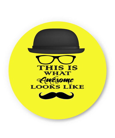 PosterGuy | This Is What Awesome Looks Like (Yellow) Fridge Magnet 1513028319 Online India