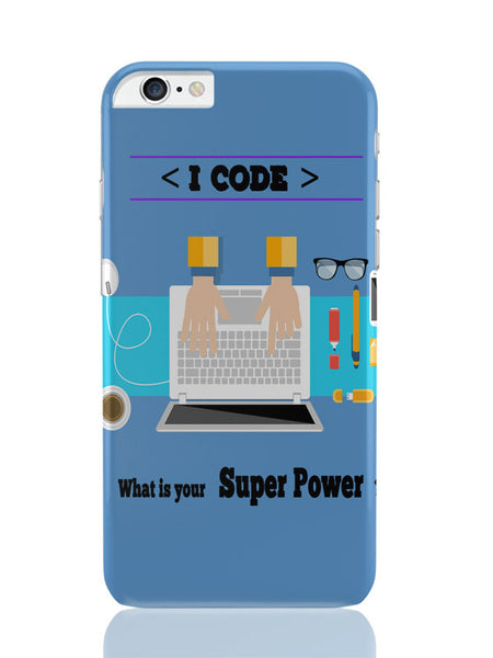 iPhone 6 Plus / 6S Plus Covers & Cases | I Code | What'S Your Superpower? (Blue) iPhone 6 Plus / 6S Plus Covers and Cases Online India