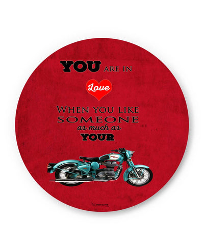 PosterGuy | Royal Enfield Love (Red) Fridge Magnet 1513058319 Online India