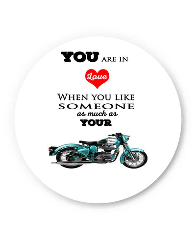 PosterGuy | Royal Enfield Love (White) Fridge Magnet 1513068319 Online India
