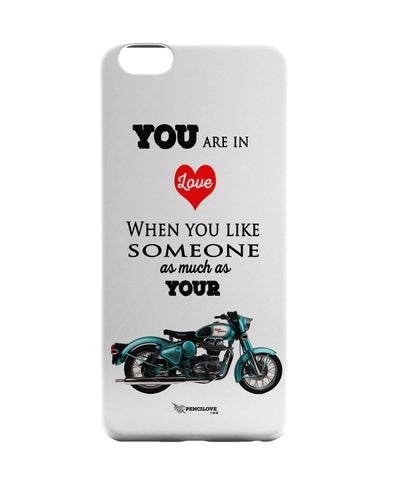 iPhone 6 Case & iPhone 6S Case | Royal Enfield Love (White) iPhone 6 | iPhone 6S Case Online India | PosterGuy