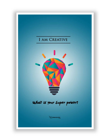 Posters Online | What is Your Superpower Motivational Poster Online India | Designed by: PenciLove