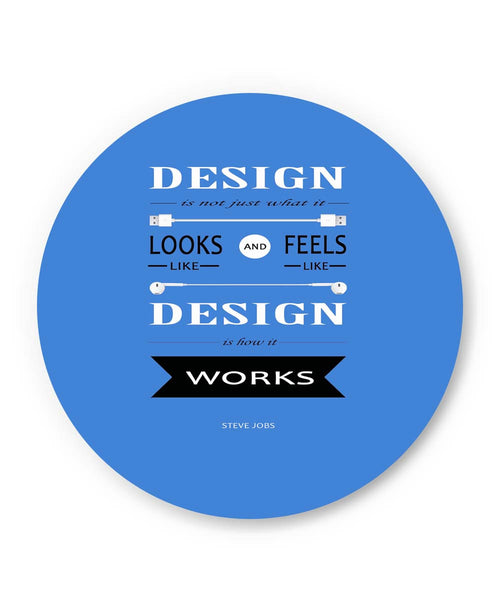 PosterGuy | Design is How It Works | Steve Jobs Quote Fridge Magnet 1513126019 Online India