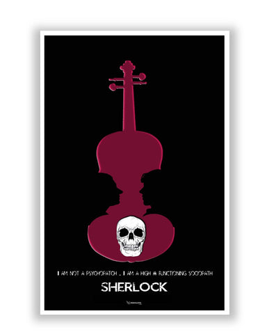 Posters Online | High Functioning Sociopath | Sherlock Holmes Poster Online India | Designed by: PenciLove