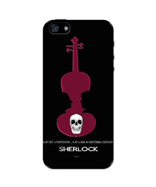 iPhone 5 / 5S Cases| High Functioning Sociopath | Sherlock Holmes iPhone 5 / 5S Case Online India