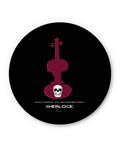 PosterGuy | High Functioning Sociopath | Sherlock Holmes Fridge Magnet 1513137719 Online India