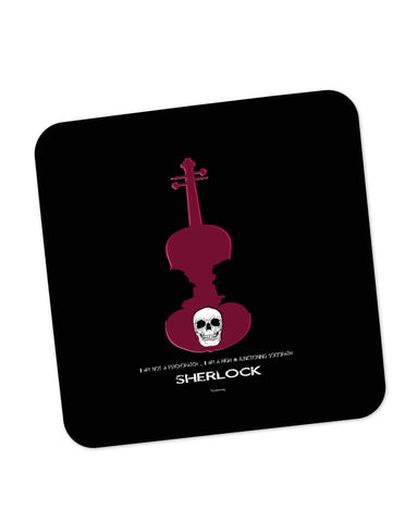 Coasters | High Functioning Sociopath | Sherlock Holmes Coaster 1513137729 Online India | PosterGuy.in