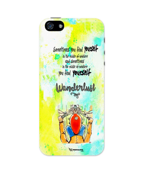 iPhone 5 / 5S Cases| In Middle Of Nowhere, You Find Yourself | Royal Enfield Inspired iPhone 5 / 5S Case Online India
