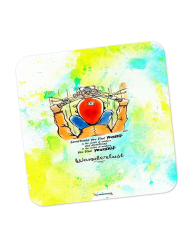Coasters | In Middle Of Nowhere, You Find Yourself | Royal Enfield Inspired Coaster 1513186029 Online India | PosterGuy.in