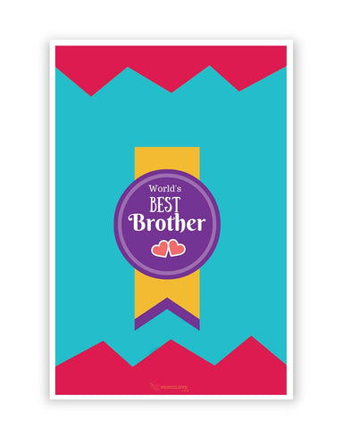 Posters Online | World's Best Brother Poster Online India | Designed by: PencilLove