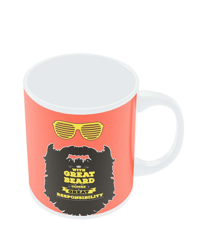 Coffee Mugs Online | With Great Beard Comes Great Responsibility Mug Online India