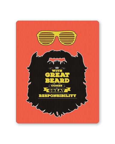 Buy Mousepads Online India | With Great Beard Comes Great Responsibility Mouse Pad Online India