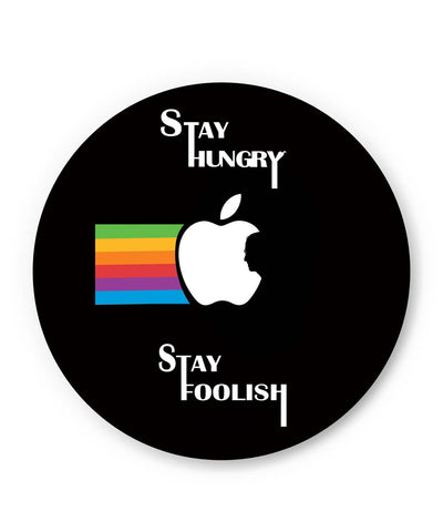 PosterGuy | Stay Hungry Stay Foolish | Steve Jobs in Apple Logo Fridge Magnet Online India by PenciLove