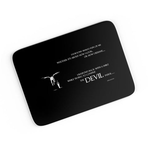 The Devil Inside Me | Death Note Inspired A4 Mousepad Online India