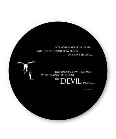 PosterGuy | The Devil Inside Me | Death Note Inspired Fridge Magnet Online India by PKM Photography