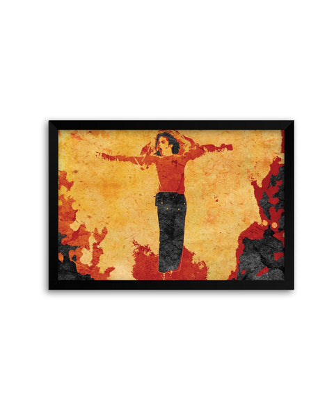 Framed Posters | Fiery Michael Jackson Pop Art Laminated Framed Poster Online India