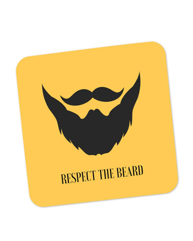 Buy Coasters Online | Respect The Beard Coaster Online India | PosterGuy.in