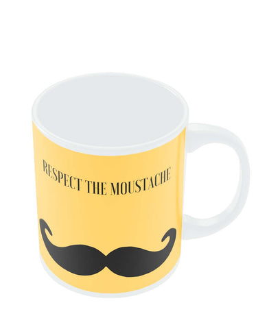 Coffee Mugs Online | Respect The Moustache Mug Online India