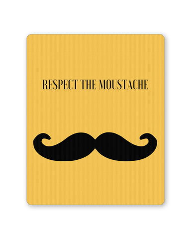 Buy Mousepads Online India | Respect The Moustache Mouse Pad Online India