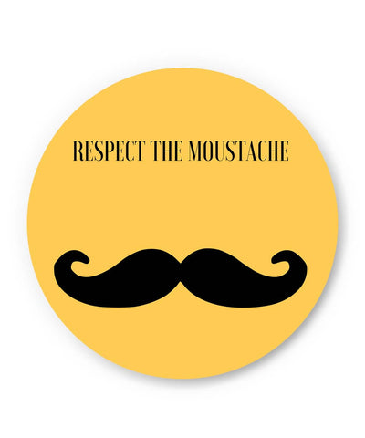 PosterGuy | Respect The Moustache Fridge Magnet Online India by PKM Photography