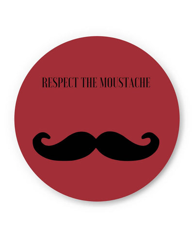 PosterGuy | Respect The Moustache(Red) Fridge Magnet Online India by PKM Photography
